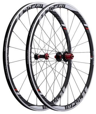 NOVATEC IMPULSE 700C (32MM CLINCHER RIM) ROAD WHEEL SET (FRONT & REAR)
