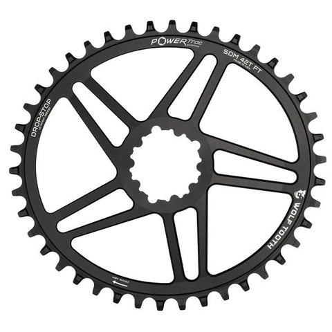 WOLF TOOTH SRAM DM 32T ELIPTICAL BOOST BLACK CHAINRING