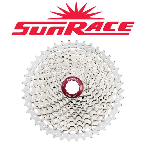 SUNRACE MX3 10 SPEED 11-42T SILVER CASSETTE