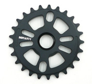 DEFIANT 28T BLACK BMX SPROCKET