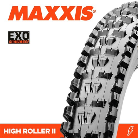 "MAXXIS HIGH ROLLER 2 26 X 2.40"" EXO FOLD 60TPI TYRE"