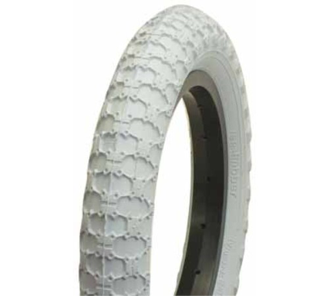 "BC BMX COMP III COPY 12-1/2 X 2-1/4"" WHITE TYRE"