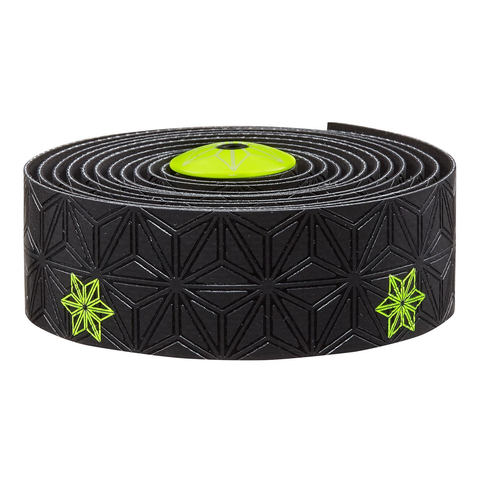 SUPACAZ SSK BLACK WITH NEON YELLOW PRINT HANDLEBAR TAPE