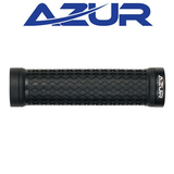 AZUR ATOM LOCK-ON BLACK GRIPS BLACK