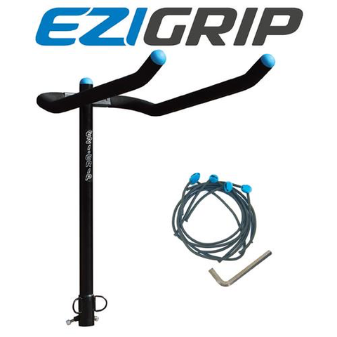 EZIGRIP 4-BIKE TOWBALL MOUNTED BIKE CARRIER INC. BUNGEE PACK
