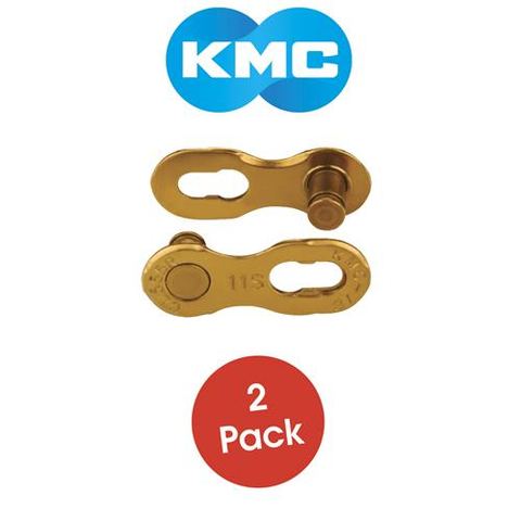 KMC CHAIN MISSING LINK 11 SPEED GOLD (2 PAIR PER CARD)
