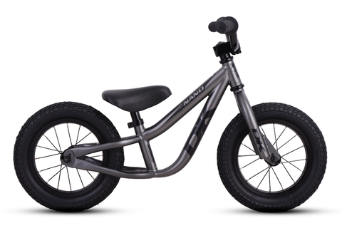 DK BICYCLES NANO BALANCE BIKE MATTE GRAPHITE WITH BLACK GRAPHICS