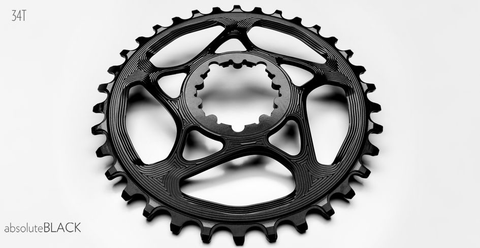 ABSOLUTE BLACK SRAM XX1 DIRECT MOUNT 34T BLACK CHAINRING