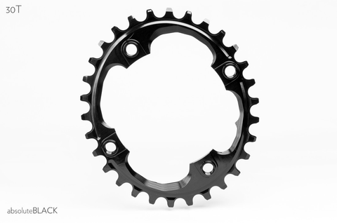 ABSOLUTE BLACK 4 BOLT OVAL 94 X 30T SRAM BLACK CHAINRING
