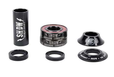THE SHADOW CONSPIRACY STACKED MID 22MM BMX BOTTOM BRACKET KIT BLACK