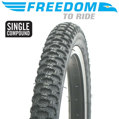 "FREEDOM MX3 20 X 2.125"" BLACK TYRE"