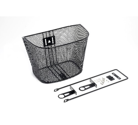 BC BASKET WIRE MESH FRONT WITH FORK STAY BLACK