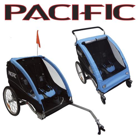 PACIFIC DELUXE 2 In 1 TRAILER/STROLLER - 2 CHILD