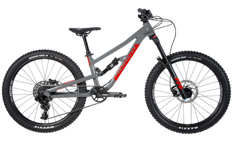 "NORCO YOUTH 24"" FLUID 4.2 FS CHARCOAL GREY/CANDY APPLE RED"