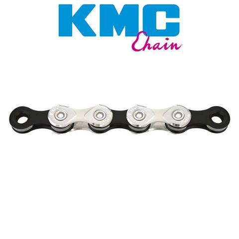 KMC X11 11 SPEED CHAIN 116 LINK SILVER BLACK ROAD/MTB