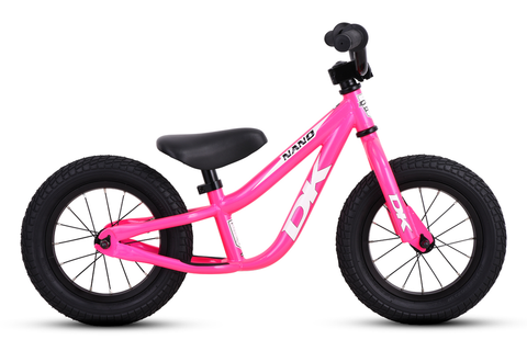DK BICYCLES '19 NANO BALANCE BIKE HOT PINK WITH WHITE GRAPHICS