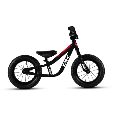 DK BICYCLES NANO BALANCE BIKE BLACK WITH RED GRAPHICS