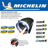 "MICHELIN WILD ENDURO R COMPETITION GUM-X3D 27.5x2.4"" FOLD TYRE"