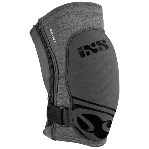 IXS FLOW ZIP KNEE GUARD GREY