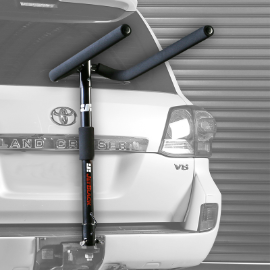 JETBLACK 4-BIKE TOWBALL MOUNTED BIKE CARRIER INC. BUNGEE PACK