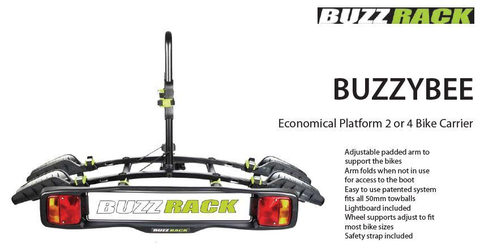 BUZZYBEE PLATFORM RACK 2 BIKE CAR RACK