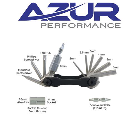 AZUR MULTI 14 FUNCTION TOOL BLACK