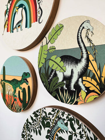 Wooden Dinosaur Plaques