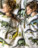 Dino Raw Bed Linen - Double / King Single Quilt Set - Dinosaur Adventures - Available For Pre-Order