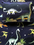 Dino Raw Bed Linen - Double / King Single Quilt Set - Dinosaur Stars & Moon - Available for  Pre-Order