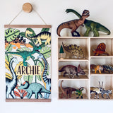 Art Hanger - Personalised Dinosaur Adventures