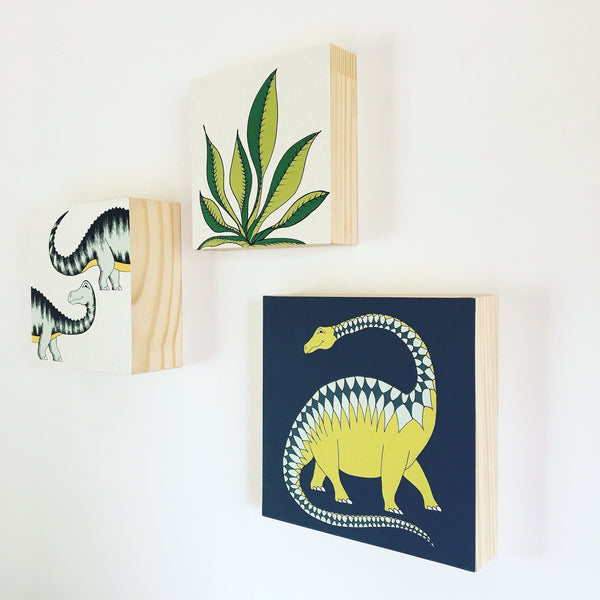 Block Mount Print / Jungle Palm