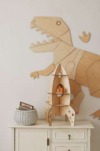 Wooden Dinosaur Origami Wall Decoration - Tyrannosaurus Rex - Available For Pre-Order