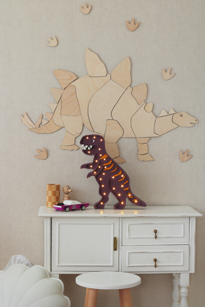 Wooden Dinosaur Origami Wall Decoration - Stegosaurus - Available For Pre-Order