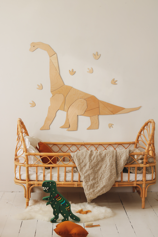 Wooden Dinosaur Origami Wall Decoration - Diplodocus - Available For Pre-Order