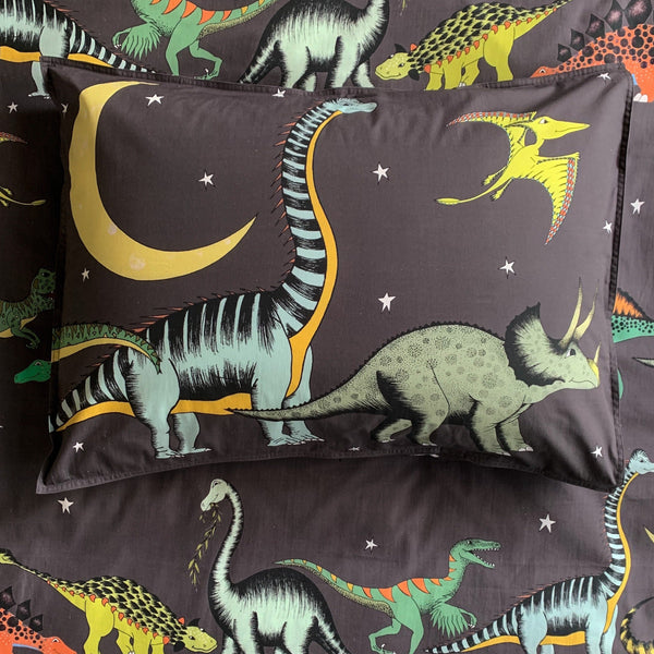 Dino Raw Bed - Single Pillowcase - Starry Nights