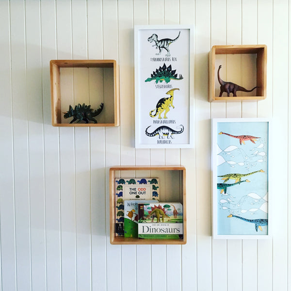 Rectangle Print - Dinosaur Name Chart
