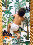Dino Raw Bed - Fitted Cot Sheet - Dinosaur Wonderland - Available for Pre-Order