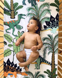 Dino Raw Bed - Fitted Cot Sheet - Dinosaur Wonderland