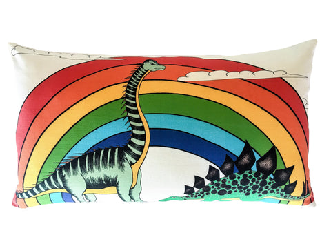 Kids Cushion Rainbow Dinosaur Dreaming