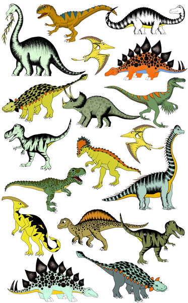 Decals - CUSTOM Dinosaur 4 Pack