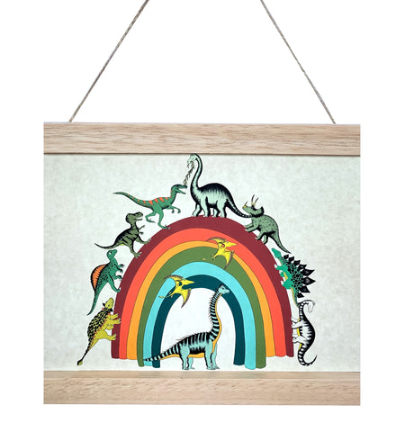 Dino Mini - Art Hanger - Rainbowsaurus