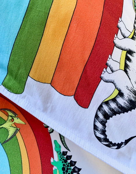 Dino Raw Bed - Single & Double Quilt Cover - Rainbowsaurus
