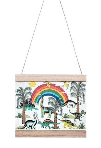 Dino Mini - Art Hanger - Jungle Rainbow Dinosaur Dreaming
