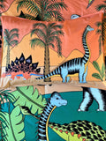Dino Raw Bed - Single Pillowcase - Dinosaur Oasis - Available For Pre-Order