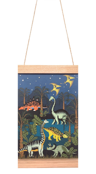 Dino Mini - Art Hanger - Dinosaur Oasis - Starry Nights