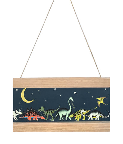 Dino Mini - Art Hanger - Dinosaur Gathering Stars & Moon