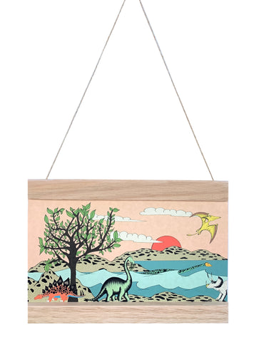 Dino Mini - Art Hanger - For The Love Of Trees & Dinosaurs