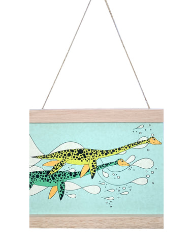 Dino Mini - Art Hanger - Swimming Elasmosaurus