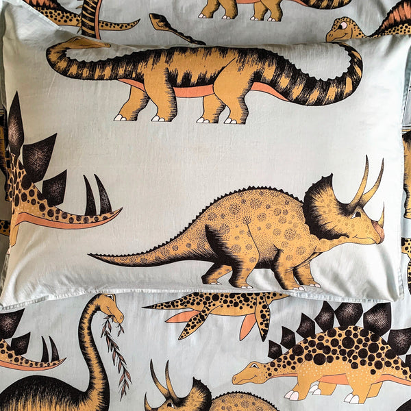 Dino Raw Bed - Single Pillowcase - Prehistoric