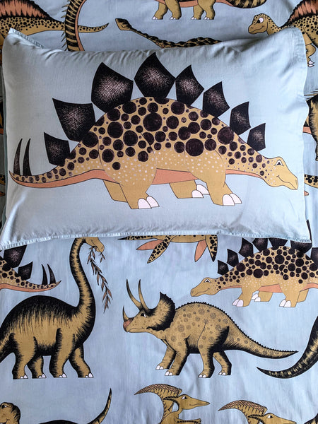Dino Raw Bed - Single Pillowcase - Prehistoric - Available for Pre-Order